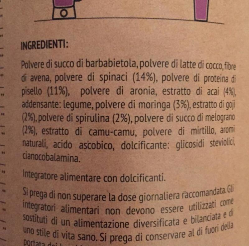 Natural Mojo ingredients