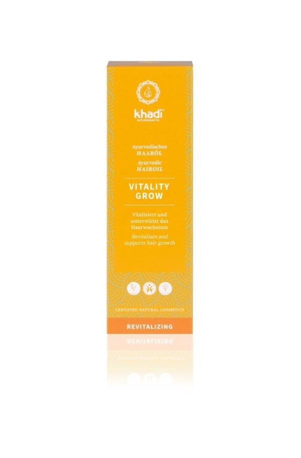 Olio per Capelli Vitality Grow Khadi (2) - La Libellula Ecobio