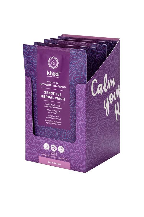 Shampoo in Polvere Ayurvedico Sensitive Herbal Wash-La Libellula Ecobio (1)