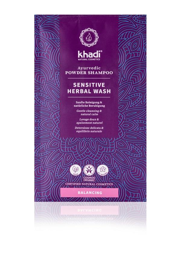 Shampoo in Polvere Ayurvedico Sensitive Herbal Wash-La Libellula Ecobio (2)